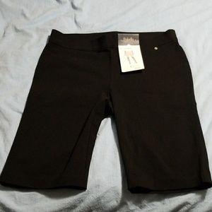 Brand New Rafaella Black Bermuda Shorts